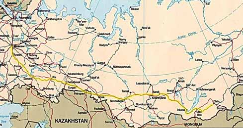 Route of the Trans-Siberian Railroad